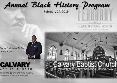 Annual Black History Program