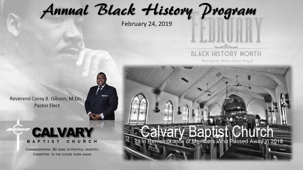 Annual Black History Program