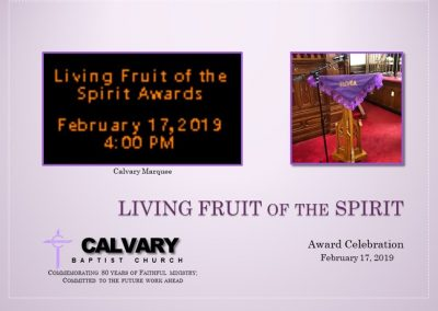 Living Fruit of the Spirit Award Celebration