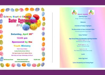 Easter Eggstravaganza Program 01