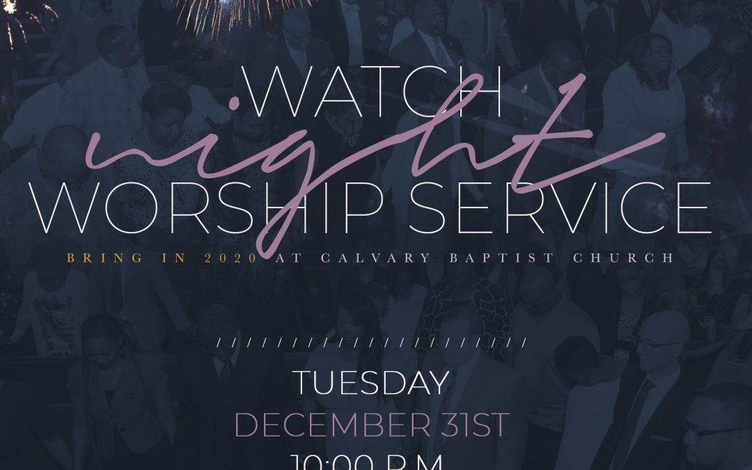 Worship Service: Watch Night